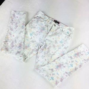 Sanctuary white floral skinny jeans 28 X 29